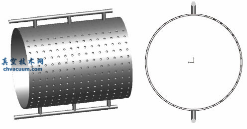 不锈钢板式热沉几何模型